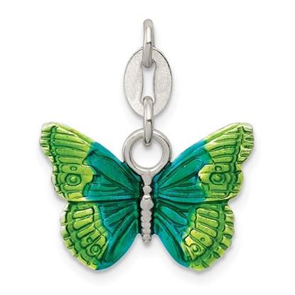 Picture of Sterling Silver Enameled Butterfly Charm