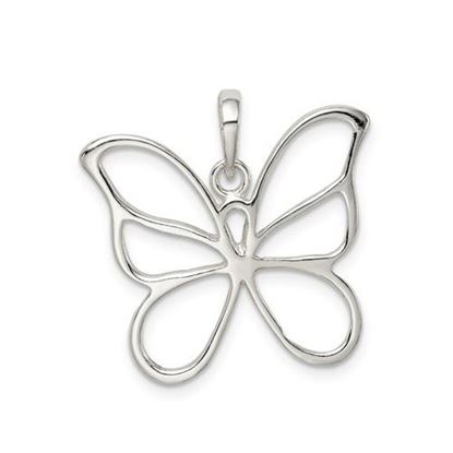 Picture of Sterling Silver Polished Butterfly Pendant