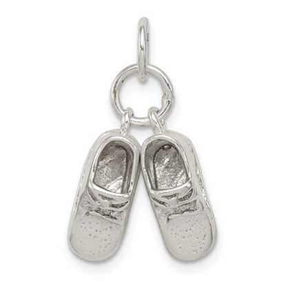 Picture of Sterling Silver Baby Shoes Charm