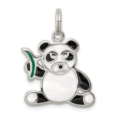 Picture of Sterling Silver Enameled Panda Bear Charm