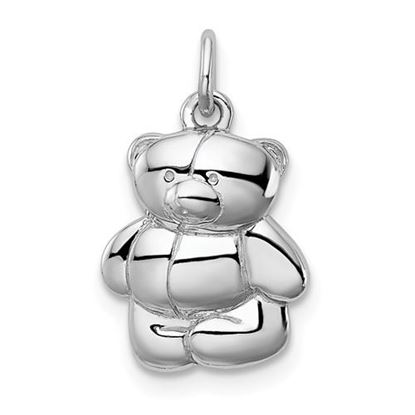 Picture of Sterling Silver Rhodium-plated Teddy Bear Pendant