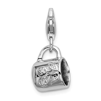 Picture of Sterling Silver Baby Cup Lobster Clasp Charm