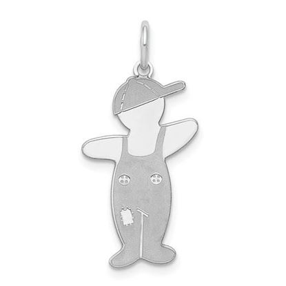 Picture of Sterling Silver Rhodium-plated Spunky Cuddle Charm