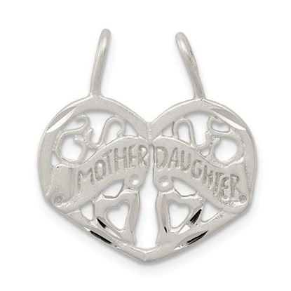 Picture of Sterling Silver Mother Daughter 2-piece break apart Charm