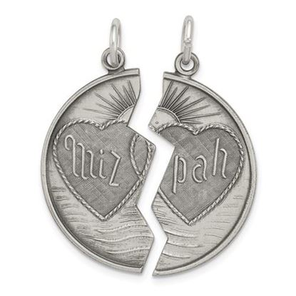 Picture of Sterling Silver Antiqued Mizpah Charm