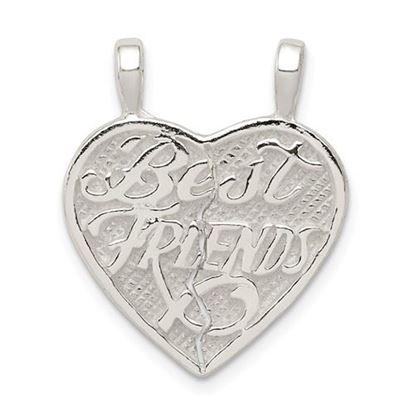Picture of Sterling Silver Best Friends 2-piece break apart Heart Charm