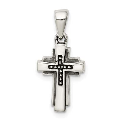 Picture of Sterling Silver Antiqued Cross Pendant