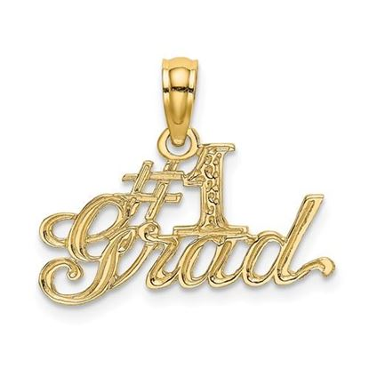 Picture of 14k Yellow Gold #1 Grad Pendant