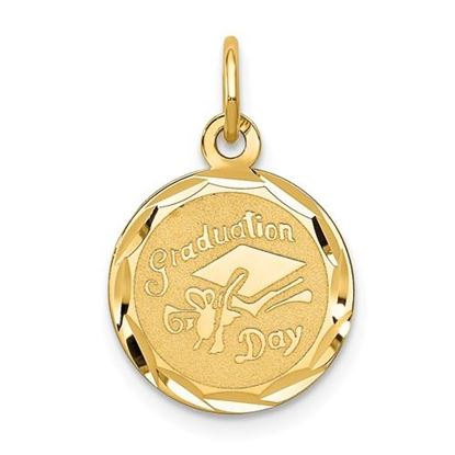 Picture of 14k Yellow Gold Graduation Cap Charm