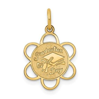 Picture of 14k Yellow Gold Graduation Day Charm