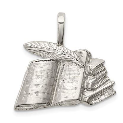 Picture of Sterling Silver Books with Quill Charm