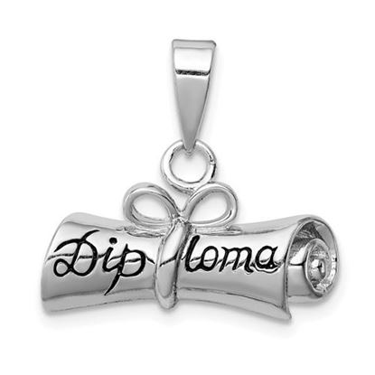 Picture of Sterling Silver Rolled-Up Diploma Charm