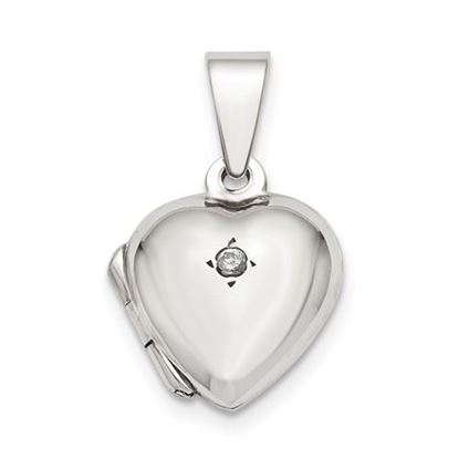 Picture of Sterling Silver CZ Heart Locket