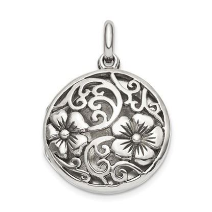 Picture of Sterling Silver Antiqued Filigree Locket Pendant