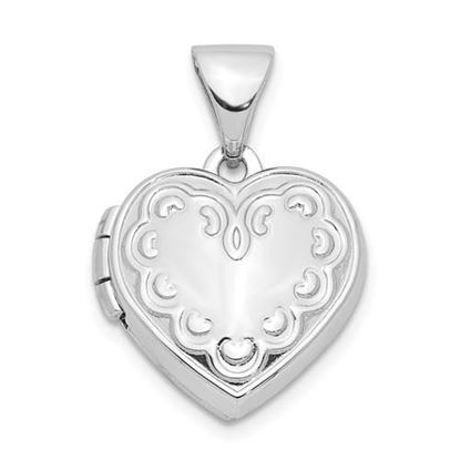 Picture of Sterling Silver 13mm Heart Locket