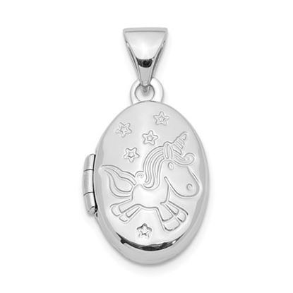 Picture of Sterling Silver 16mm Unicorn Locket