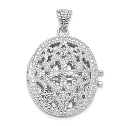 Picture of Sterling Silver CZ Locket