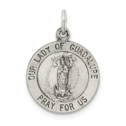 Picture of Sterling Silver Our Lady of Guadalupe Medal