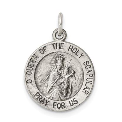 Picture of Sterling Silver Queen of the Holy Scapular Medal