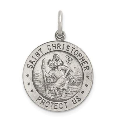 Picture of Sterling Silver St. Christopher Soccer Medal