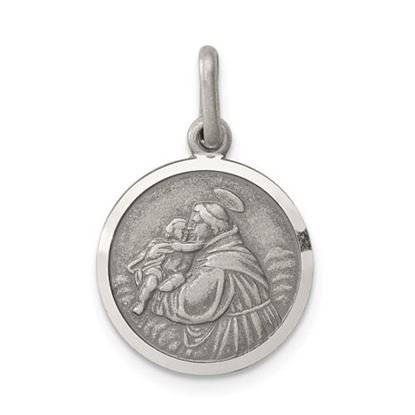 Picture of Sterling Silver Antiqued Saint Anthony Medal
