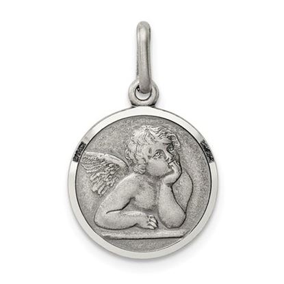 Picture of Sterling Silver Antiqued Raphael Angel Charm