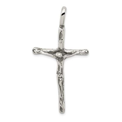 Picture of Sterling Silver Antiqued Crucifix Charm