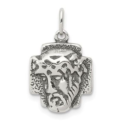 Picture of Sterling Silver Antiqued Ecce Homo Medal