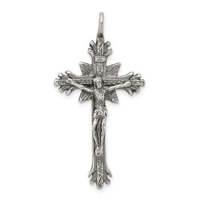 Picture of Sterling Silver Antiqued Crucifix Pendant