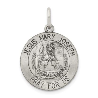 Picture of Sterling Silver Antiqued Holy Family Medal