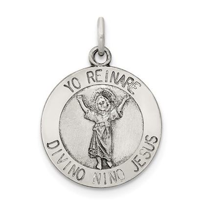 Picture of Sterling Silver Divino Nino Medal (Divine Infant Jesus)