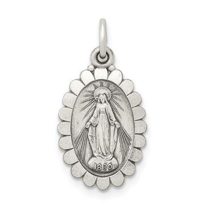 Picture of Sterling Silver Antiqued Miraculous Medal
