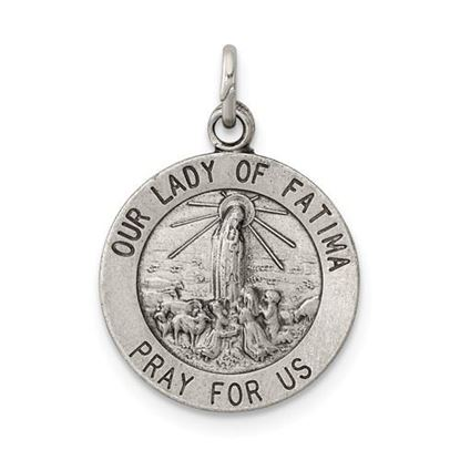 Picture of Sterling Silver Our Lady of Fatima Medal