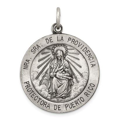 Picture of Sterling Silver Antiqued De La Providencia Medal