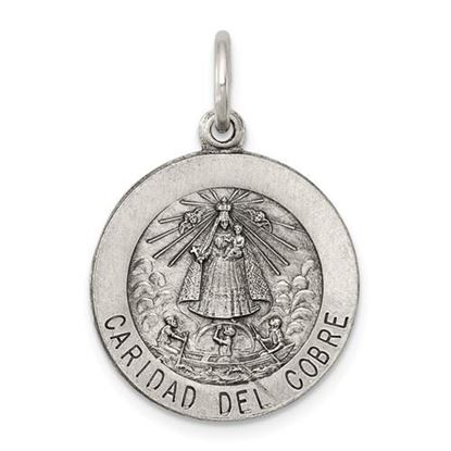 Picture of Sterling Silver Caridad del Cobre Medal