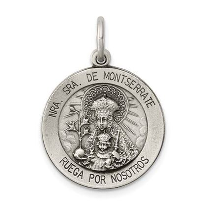 Picture of Sterling Silver Antiqued Lady Of Montserrat Medal