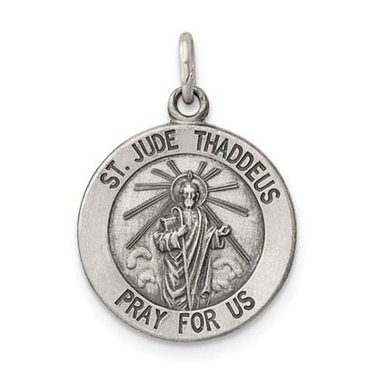 Picture of Sterling Silver Saint Jude Thaddeus Medal