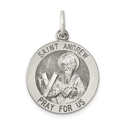 Picture of Sterling Silver Antiqued Saint Andrew Medal