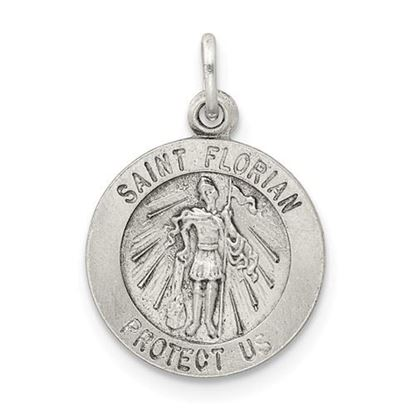 Picture of Sterling Silver Antiqued Saint Florian Medal