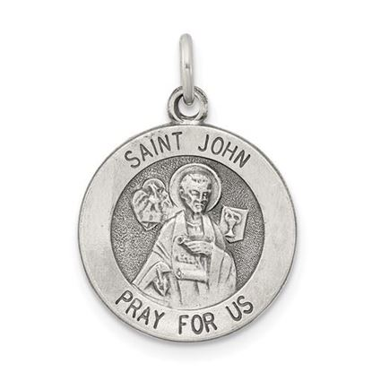 Picture of Sterling Silver Antiqued Saint John Medal