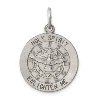 Picture of Sterling Silver Antiqued Holy Spirit Medal