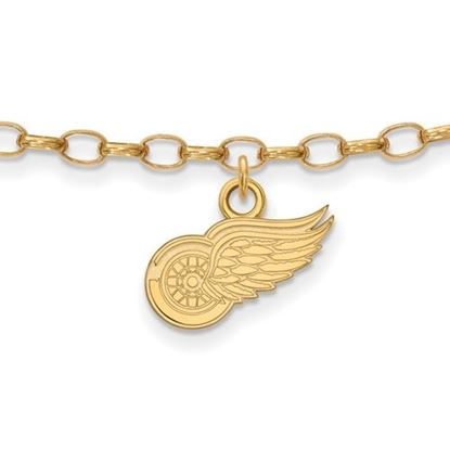 Picture of Detroit Red Wings® Sterling Silver Gold Plated Anklet