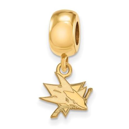 Picture of San Jose Sharks® Sterling Silver Gold Plated Extra Small Dangle Bead Charm
