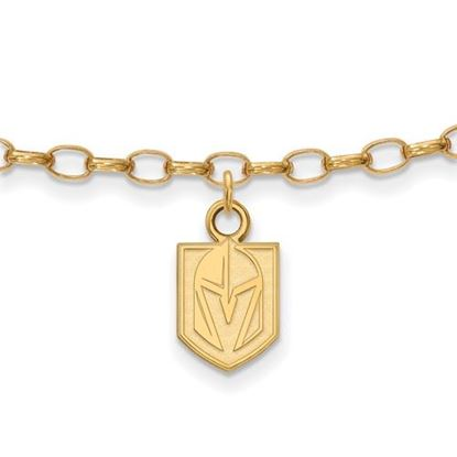 Picture of Vegas Golden Knights™ Sterling Silver Gold Plated Anklet