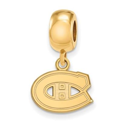 Picture of Montreal Canadiens® Sterling Silver Gold Plated Extra Small Dangle Bead Charm