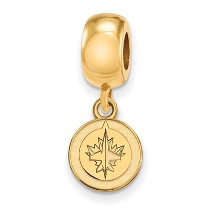 Picture of Winnipeg Jets™ Sterling Silver Gold Plated Extra Small Dangle Bead Charm