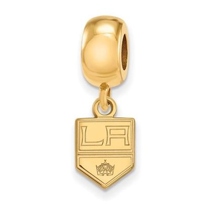 Picture of Los Angeles Kings® Sterling Silver Gold Plated Extra Small Dangle Bead Charm