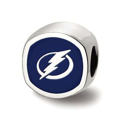 Picture of Tampa Bay Lightning® Sterling Silver Cushion Shaped Logo Bead