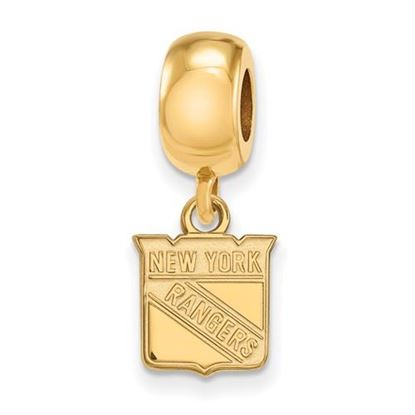 Picture of New York Rangers® Sterling Silver Gold Plated Extra Small Dangle Bead Charm