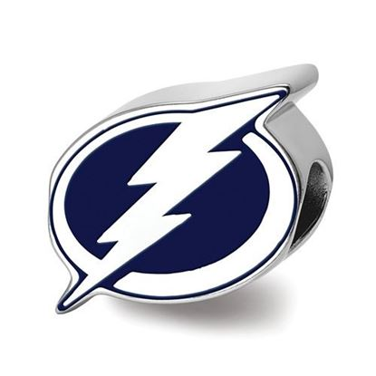 Picture of Tampa Bay Lightning® Sterling Silver Enameled Logo Bead